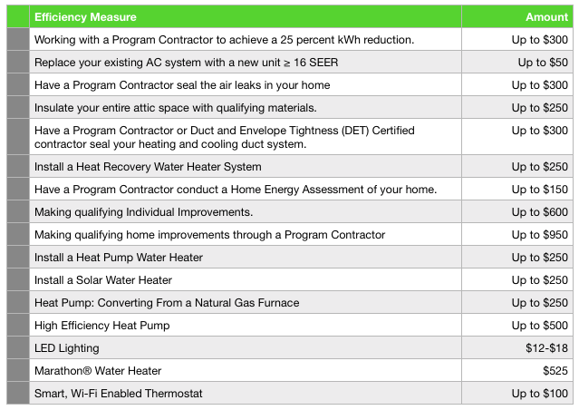 Georgia Power residential rebate programs.