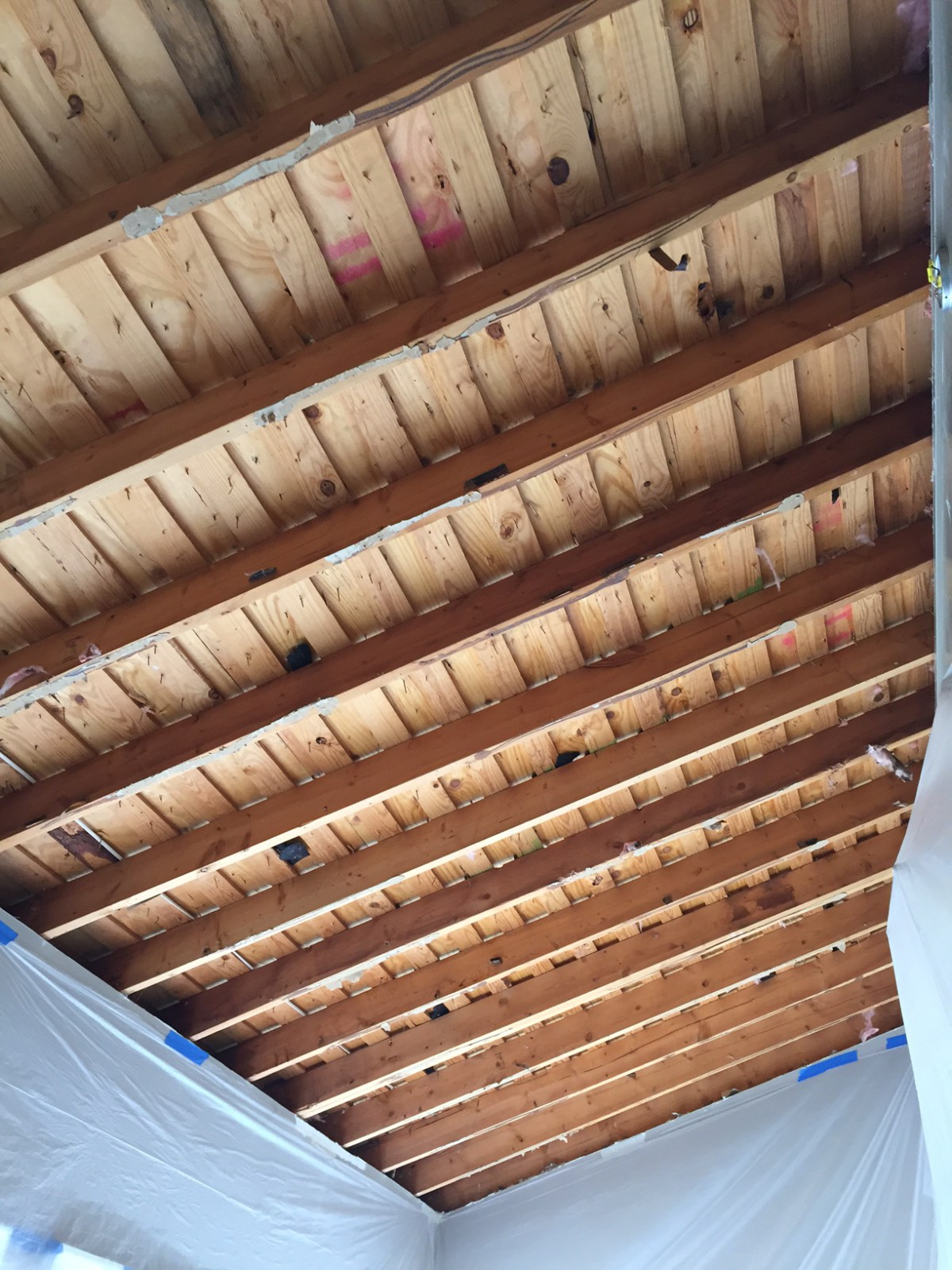 Soon to be insulated ceiling in North Atlanta.